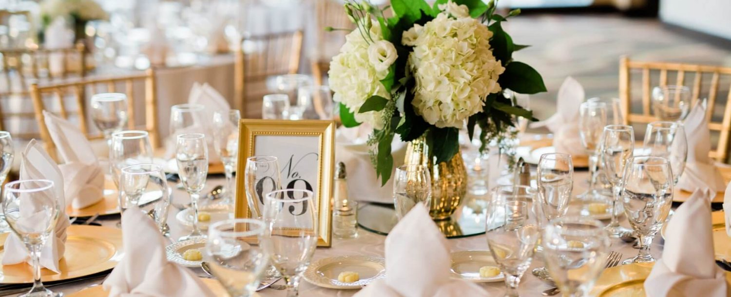 This is a wedding stock photo of a table with glassware.