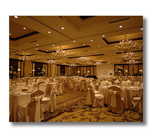 A banquet room at Osthoff Resort
