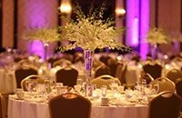 A decorated banquet table