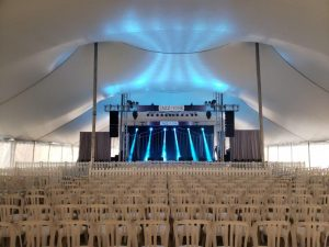 Stage and Chairs at Osthoff Resort