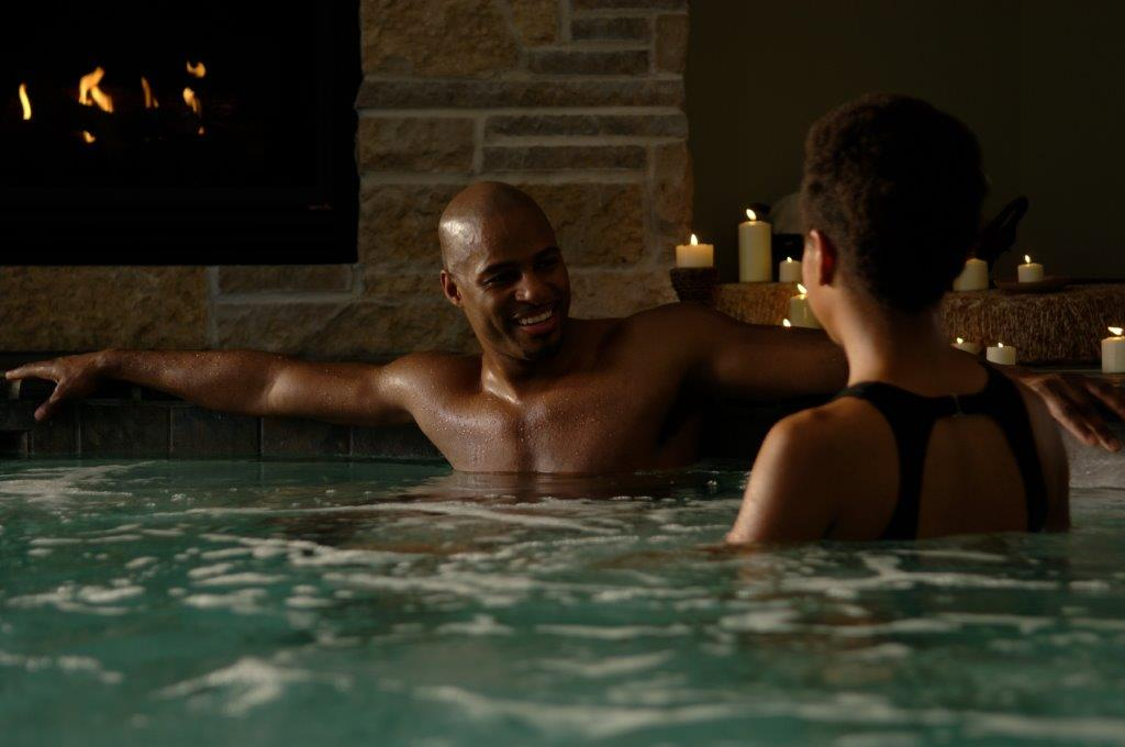 Couple Relaxing at Osthoff Resort