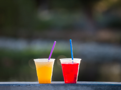 Frozen cocktails at the Osthoff Lake Deck