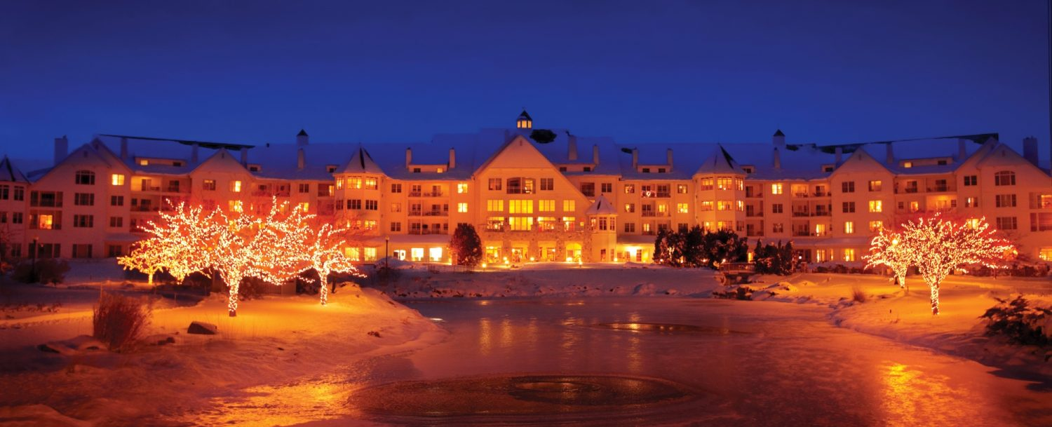 Osthoff Resort at Night in the Winter