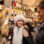 Woman with Fur Hat at Old World Christmas Market